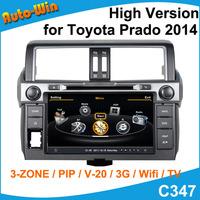 S100 Car DVD GPS Player for Toyota Prado 2014 High Version Car Radio Audio GPS Player with Radio DVD iPod USB SD V20 Support DVR