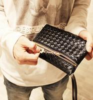 2014 Korean version new spring and summer handbags complex weave purse  package unisex joker tide bag pu