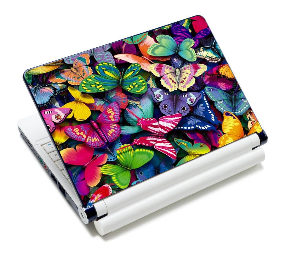 """Borboleta Colorida 12 """" 12.6"""" 13 """" 13.3"""" 14 """" 14.1"""" 14.4 """"15"""" 15.4 """" 15.6"""" polegadas Netbook Laptop Skin Adesivo venda capa de desaceleração Protetores(China (Mainland))"""