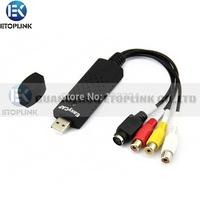 2.0 Easycap USB dc60 vhs tv dvd Video Capture Adapter Easy Cap Card Audio AV mmm video capture Card Video Capture USB DVR Cards