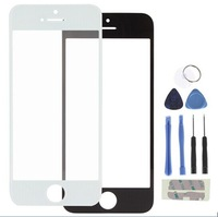 Front Outer Replacement Black and White Touch Screen Digiziter Glass Lens for Iphone5 with Repair Tools