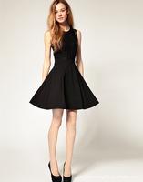 Hot! Sexy 2014 Summer Women Lace Chiffon Dresses Hollow Desigual Bodycon Novelty Dress Vestido Women Clothing Black