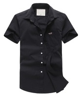 2014 new fashion summer short-sleeved dress shirt FHM casual solid color collar shirt / casual shirt