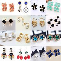 New 19styles Wedding Jewelry Women Earrings Bijoux,Flower Earring,Square Earring,Pearl Earring Fashion Wholesale Factory