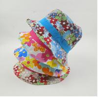 Han edition cotton baby baby hats caps female princess basin hat shading caps children's hat