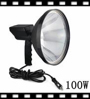 "9"" hid spotlight  offroad light handheld spotlight 12v  100W Hid hunting  for hunting camping  emergency hid handheld spotlight"