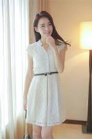 Hot! Novelty 2014 Women Summer Beige Lace Dresses Fashion Desigual Party Dress Vestidos Vestido de renda Women Clothing Clothes