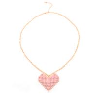 New Romantic Korea Style Roseo Big Heart Necklace Women Wholesale  (6 pieces/lot)