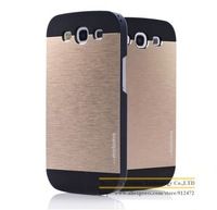 2 Piece Hybrid Aluminum Metal + Plastic Case Hard Phone Back Skin Cover Case capas para for Samsung Galaxy S3