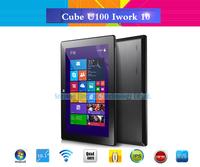"Original Cube U100GT iWork10 Quad Core 10.1"" Tablet PC Intel Atom Z23740D 1.33GHz 2GB 32GB 2.0MP Dual Cameras Windows 8 HDMI"