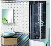 Blue White Glass Mosaic tiles combinational design , Bathroom Mosaic Tiles, kitchen backsplash, living room wall tiles