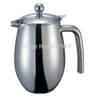 Home restaurant double walls stainless steel 350ml tea pot water pot milk pot coffee pot with lid
