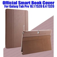 10pcs/lot DHL Free Newest 1:1 Official Design Original Smart Book Cover For Samsung Galaxy Tab Pro 10.1 T520 8.4 T320 No: T5201