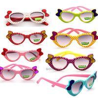 Wholesale 8pcs/lot Super Cute Children's Heart-shaped Sunglasses Love Sunglasses For Boys and Girls Child Bow Decoration Glasses