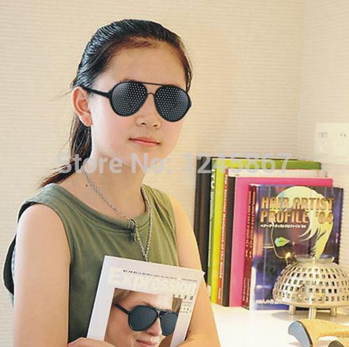 wholesale Vision Spectacles Astigmatism Eyesight Improve Eyes Care Pinhole Glasses Eyewear pin hole fashion glass(China (Mainland))