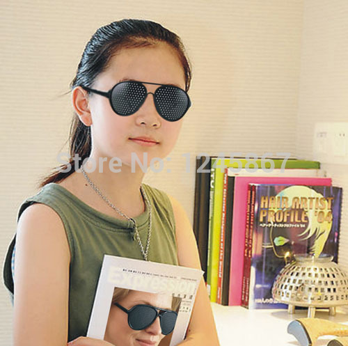 wholesale Vision Spectacles Astigmatism Eyesight Improve Eyes Care Pinhole Glasses Eyewear pin hole fashion glass(China (Mainland))