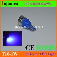 Free shipping 50pcs/lot High power Car LED LIGHT 1W Auto LEDS T10 194 W5W 5050 Wedge Light Bulb Lamp