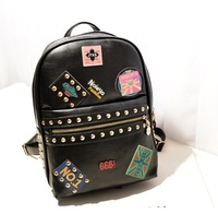 2014 fashionable women backpack  PU leather backpack with good quality