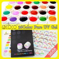 Nail art guangzhou 2014 new gdcoco 36 color uv gel  #3688W