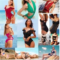 Hot Sale Women Beach Summer Conjoined bikini Swimsuit Swimwear Size UK S M L