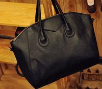 Free shipping black pu leather women messenger bag women shoulder bag large capacity handbags leather travel bag clutch bags