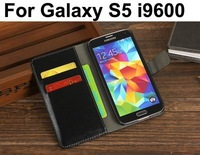 Retro Luxury Leather Stand Wallet Case for Samsung Galaxy S5 I9600 Card Holder Phone cases Bag Flip leather Cover black brown