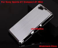 New Aluminum Hard Case Mobile Phone Case Back Cover +Screen Protector+StylusFor Sony Xperia Z1 Compact D5503