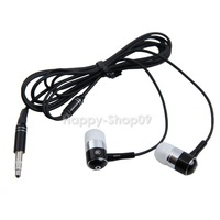 BUH9 E303 Stereo 3.5mm Metal In-ear Earphone for iPhone MP3 MP4 Computer Black