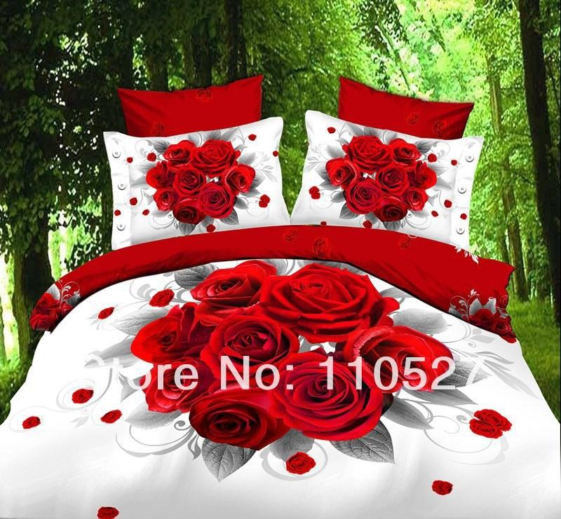 Algodão conjuntos de cama 3D roupa de cama tamanho jogo de cama de luxo set capa de edredão roupa de cama roupa de cama 3D(China (Mainland))