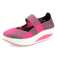 Free shipping 2014 summer new fashion women weave breathable shoes sports shoes casual shoes