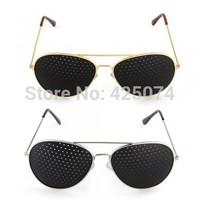 Free Shipping 10 pcs Pinhole Glasses Eyeglasses Eyewear Vision Eyesight Improve Care Exercise