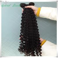 "5A grade 10""-28""deep wave mixed length brazilian virgin hair weave deep curly hair extensions machine weft fast free shipping"