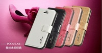 High Quality Luxury PU Leather Flip Cover  mobilephone Case for Iphone 5/5S with stander