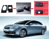 Peugeot 307 308 408 New Sega Carbon Fiber Key Chain Protective Cover Sticker