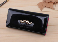 The new Korean lovely lady purse Chao long leather fashion moustache Wallet