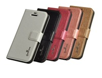 High Quality Luxury PU Leather Flip Cover  mobilephone Case for Iphone 4/ 4S with stander