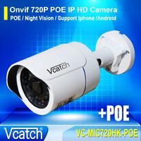 Vcatch 720P POE 1.0MP IP HD Mini IR Waterproof IP66 CCTV Home Security Network Surveillance Camera VC-MIC720HK-POE