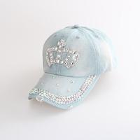 Free Shipping! Diamond hat crown worn cowboy hat visor cap influx of Korean summer sun hat cap