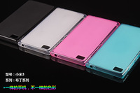 Free shipping Soft silicone TPU Gel Back Case Cover for Xiaomi M3 Mi3 MI3