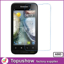 Freeshipping For Lenovo A660 Transparent LCD Screen Display Protector Film 10pcs/lot With Retail Packaging