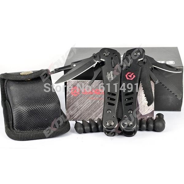 2014 novo estoque, preto cor Ganzo G302B, Ganzo Multi alicates/ferramentas,