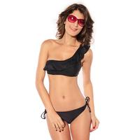 2014 summer swimwear one shoulder beach bikini breasted split swimsuit belt pad none 40610