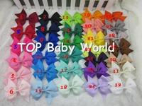 3.5 inch high quality grosgrain ribbon hair bows,children hair accessories,baby hairbows girl hair bows WITH CLIP,32pcs/lot
