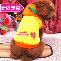 Turned orange dress dog clothes fall and winter clothes pet clothing Tai Diji doll snow Nuorui G48