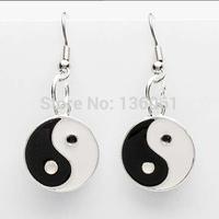 20 Pair Fashion Silvers Yin Yang Black/White Vintage Dangle Earrings  For Women Jewelry Free Shipping P2230