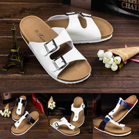 Free shipping hot sale 2014 new style Summer trend of cork lovers casual slippers male women's beach flip flops flip sandals