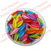 500pieces 26MM Tops 2014! Fashion Leaf DIY Handmade Jewelry Beads Acrylic Loose Beads Free Shipping!cy069