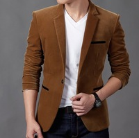 New Arrival Men's Spring Casual Blazers Stylish Slim Corduroy Blazer Men Fashion Suit Jacket FS-033