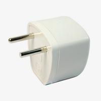 2-pin EU Travel Plug Power Adapter Converter White