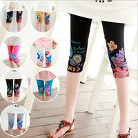 Colorful summer new national wind printing seven point diamond pant   high elastic modal women leggings